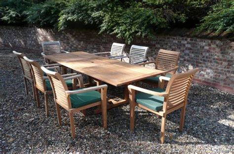 8 Seater Teak Garden Furniture Sets Geneva Teak Garden Furniture Set Humber Imports Uk