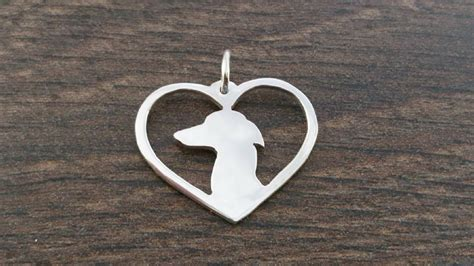 Handmade Sterling Silver Charms - italian greyhound charm solid sterling silver handmade in