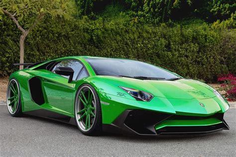 Lamborghini Aventador Green Lamborghini Aventador Sv Goes Green Virtually