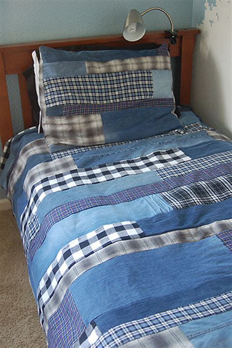 How To Make A Patchwork Quilt Out Of Baby Clothes - denim rag quilt made from thrift store