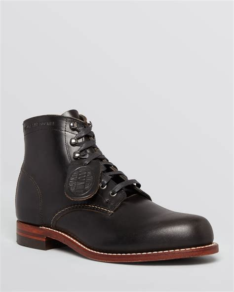 1000 mile boots wolverine 1 000 mile boots in black for lyst