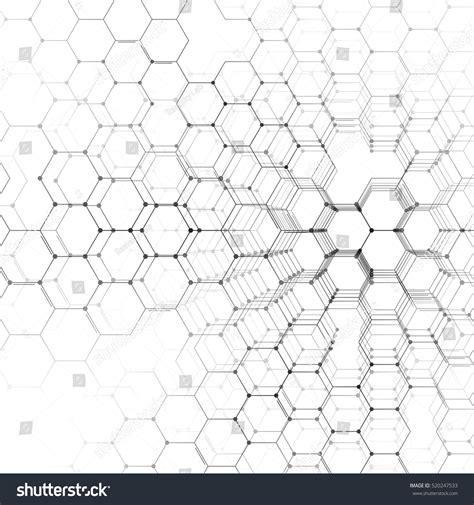 geometric pattern formula chemistry 3d pattern hexagonal molecule structure stock