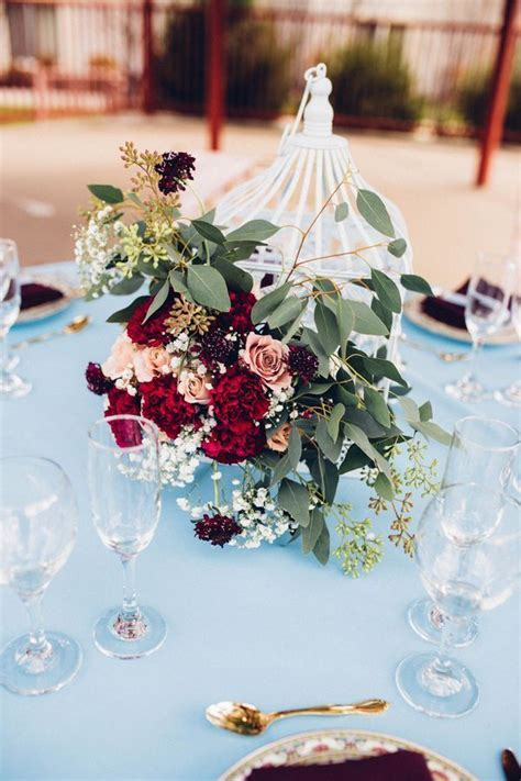 Best 25  Burgundy floral centerpieces ideas on Pinterest