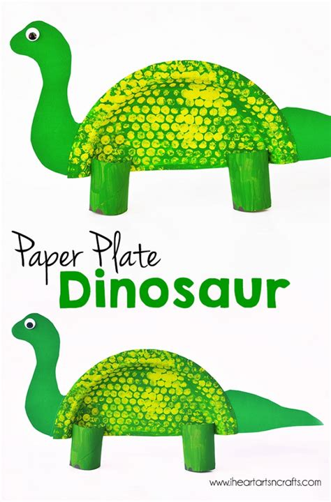 Dinosaur Paper Craft - paper plate dinosaur craft i arts n crafts