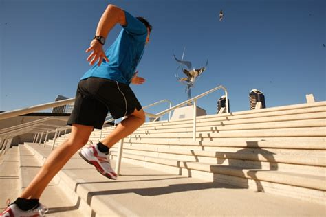 Run Stairs To Build Strength And Endurance by Free Interval And Strength Book Offered By