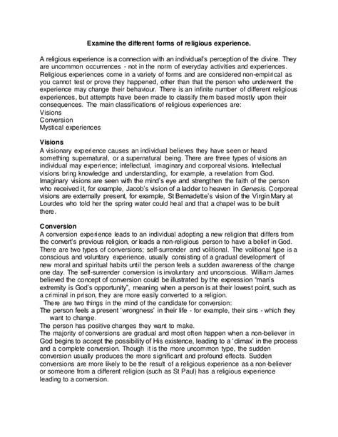 Science Vs Religion Essay by Religious Experiences Essay Word