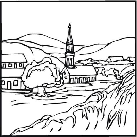 landscape images coloring pages free landscape coloring pages
