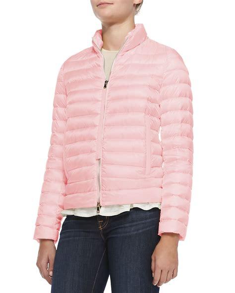 light pink moncler moncler blein puffer jacket in pink lyst