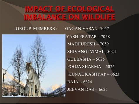 Ecological Imbalance In Nature Essay by Impact Of Ecological Imbalance On Wildlife
