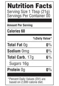 Nutrition Facts Label Template by Honey Nutrition Facts Gold Honey