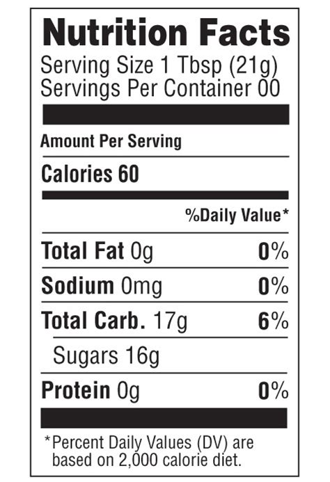 food label template for honey nutrition facts gold honey