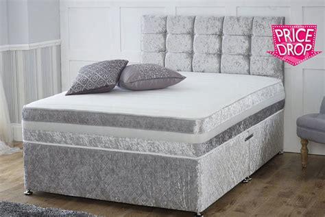foam for headboard where to buy crushed velvet divan bed with memory foam mattress