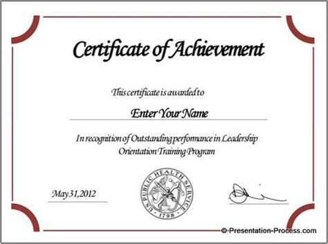 powerpoint certificate templates free certificate template sles and templates