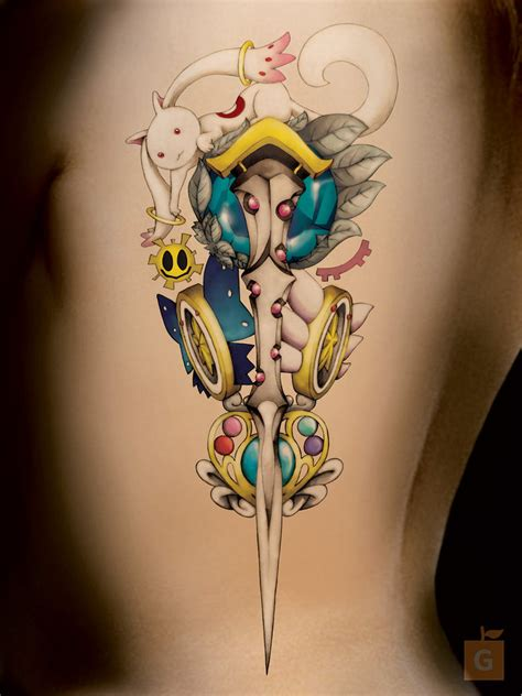 small anime tattoos anime by gs half point by proto jekt on deviantart