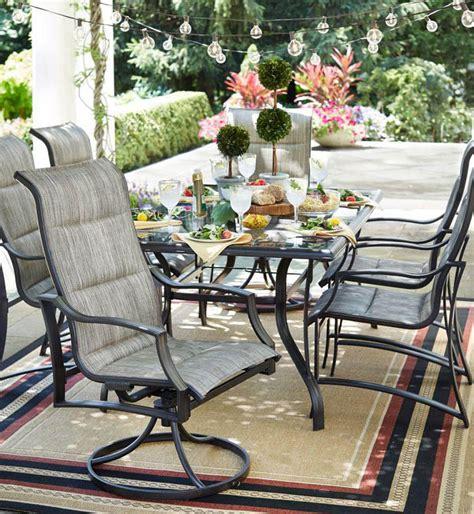 hampton bay statesville  piece padded sling patio dining
