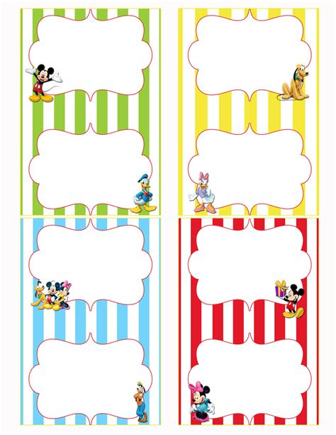 mickey mouse clubhouse printable birthday decorations free printable mickey mouse food labels party ideas for