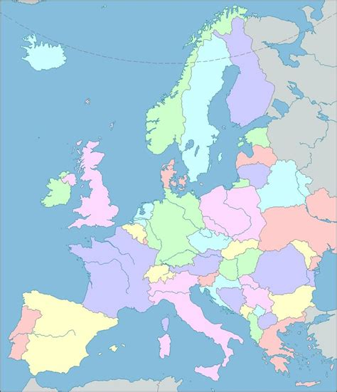 europe map interactive map  europe showing countries
