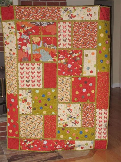 Easy Large Block Quilt Patterns size patterns and fabrics on