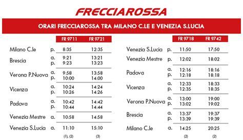 orari treni da venezia a verona porta nuova frecciarossa effettuer 224 il tragitto venezia