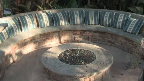 Round Fire Pits Outdoor - gas fire pit seating amp misting system youtube
