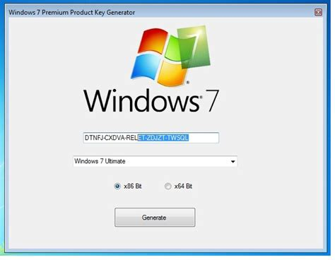 windows 7 product key generator 100 working 32 64 bit