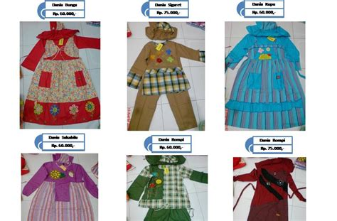 Gamis Anak No 4 Stripe Dannis fashion gambar baju muslim anak anak