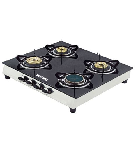 four stove ceramic four burner glass top gas stove