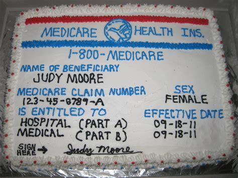 Medicare Card Birthday Cake   CakeCentral.com