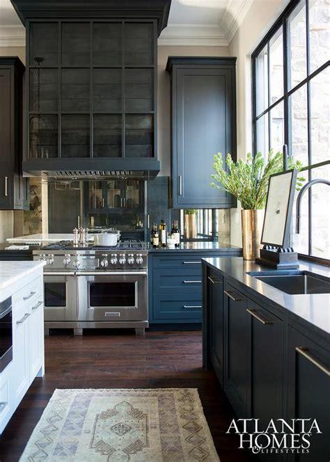 Atlanta Homes Kitchen Of The Year Antiqued Mirrored Backsplash Contemporary Kitchen