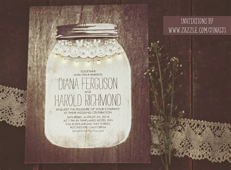 mason jar and string lights wedding invitations need