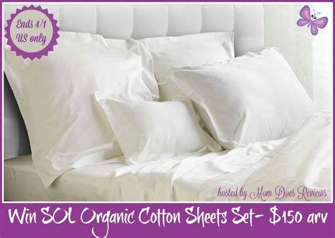 sol organic soft cotton luxury sheets review sol luxurious organic cotton sheet set giveaway 150 arv