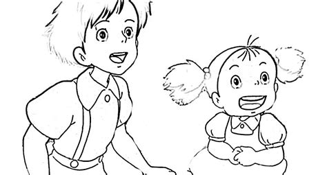 Totoro Coloring Pages Coloring Home Totoro Coloring Pages