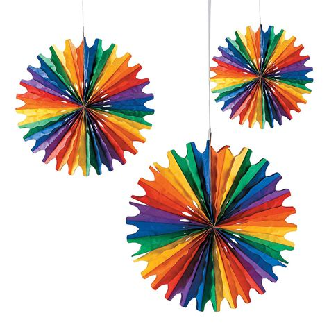 Rainbow Hanging Decoration rainbow hanging fans rainbows fans and