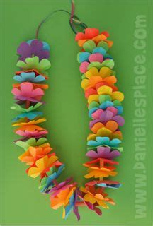 printable lei flowers hawaiian lei craft with printable flower pattern from www