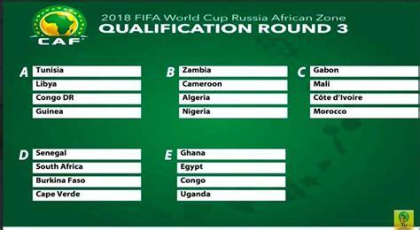 Calendrier Eliminatoire Mondial 2018 Afrique Eliminatoires Coupe Du Monde Foot 2018