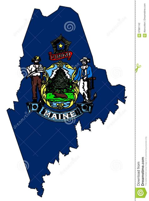 printable w 9 form maine maine outline map and flag stock vector image of drawing