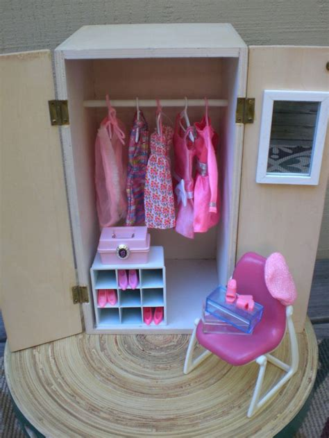 barbie doll house accessories barbie doll house pink wardrobe vignette room furniture accessories bedroom closet