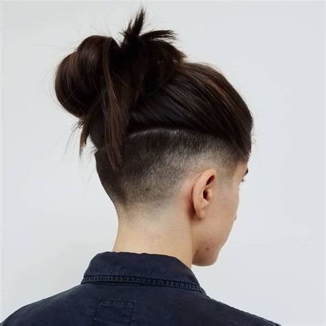 long hair bacl bald front hairstyles 60 modern shaved hairstyles and edgy undercuts for women