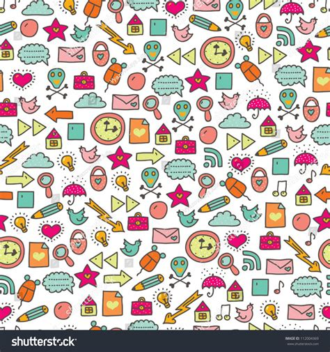 cute icon pattern cartoon seamless web icon pattern cute element seamless