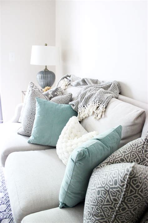 Room Decor Pillows Bright White Living Room Printed Pillows Neutral