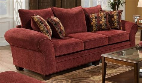 burgundy sleeper sofa upholstered sofa in burgundy contemporary sofas by
