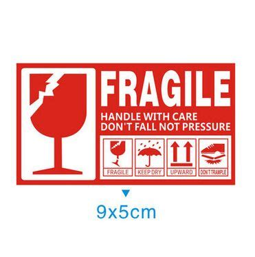 Stiker Fragile Berkualitas 1 ᑐ5000pcs fragile handle handle with care 9x5cm self adhesive ᗚ shipping shipping label stickers