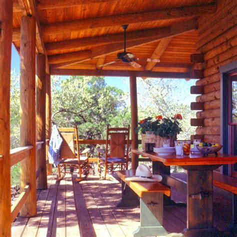 log cabin porch log home covered porch log homes inside out pinterest
