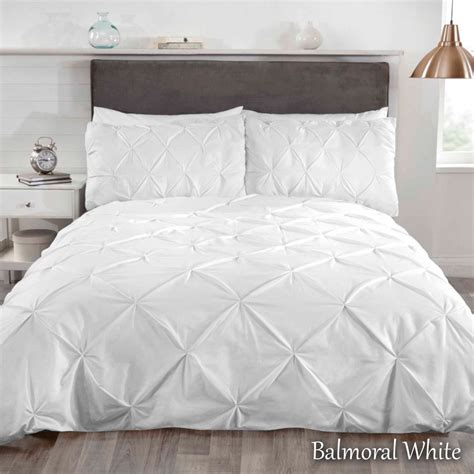 Pleated Duvet Cover Luxury Pleated Pintuck Duvet Quilt Cover Bedding Set With