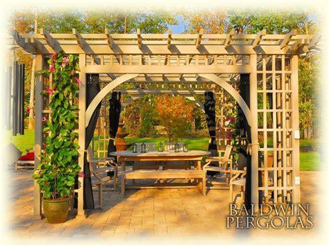 handmade garden room pergola by baldwin pergolas