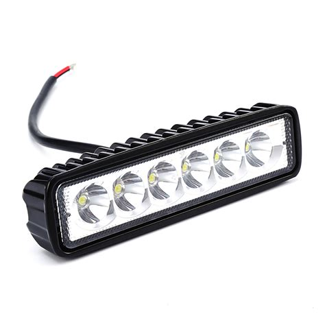 New 18w 12v Led Work Light Bar Spotlight Flood L 12v Led Lights Cing