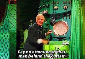 oz man behind the curtain attention gif find share on giphy