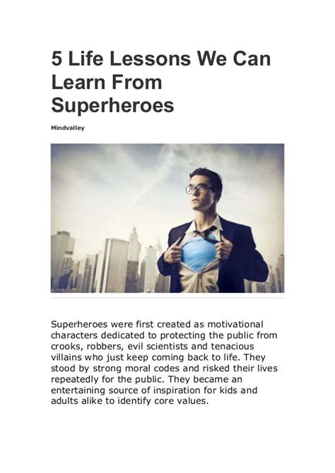5 Lessons Learned Companies by 5 Lessons We Can Learn From Superheroes