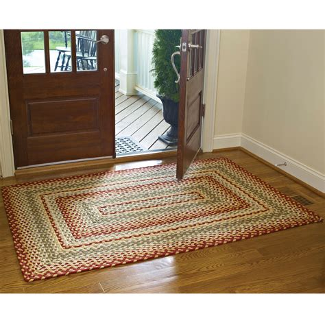 park design rugs park designs cotton braided area rug green ebay