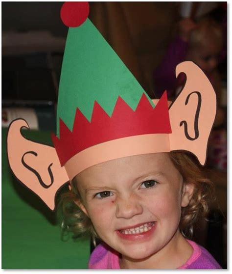 pattern for paper elf hat elf ears hat polar express day classroom december